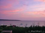 2日目のホテルからの夕日の眺め。